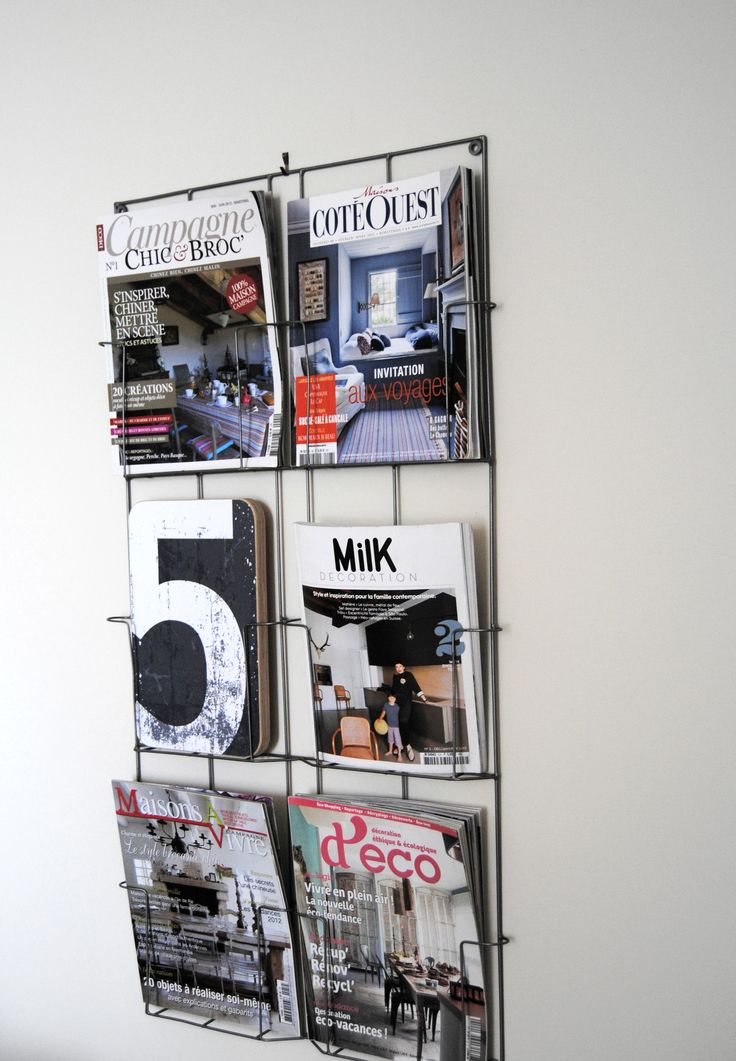 porte revues mural 39 00 d coration int rieure pinterest. Black Bedroom Furniture Sets. Home Design Ideas