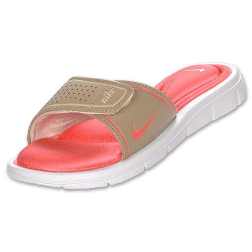 Beautiful NIKE Comfort Slide Women39s Sandals Shoe Ultra VioletWolf GreyPink