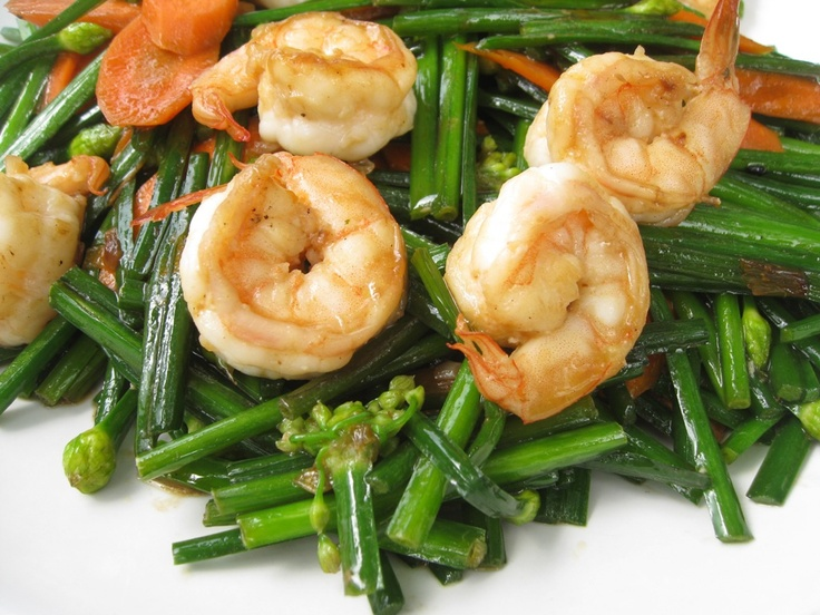 Chinese Garlic Shrimp and green beans | Chinese Stir-Fry | Pinterest