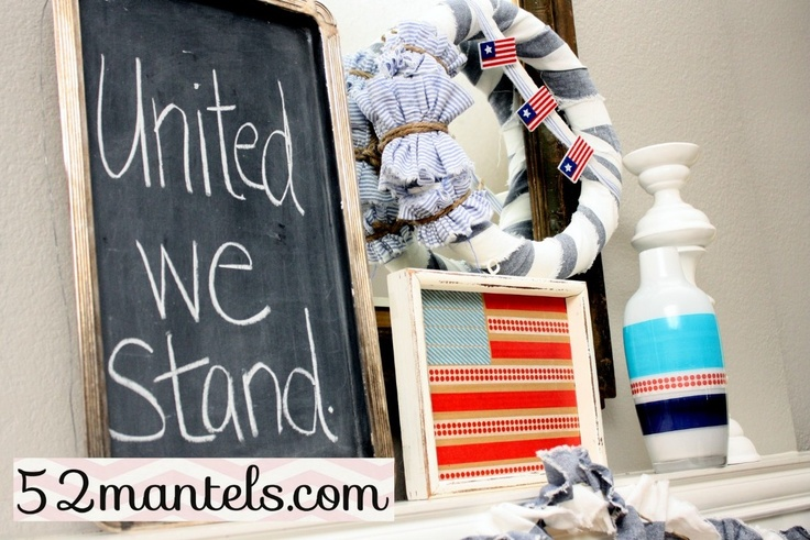 memorial day mantel decorations