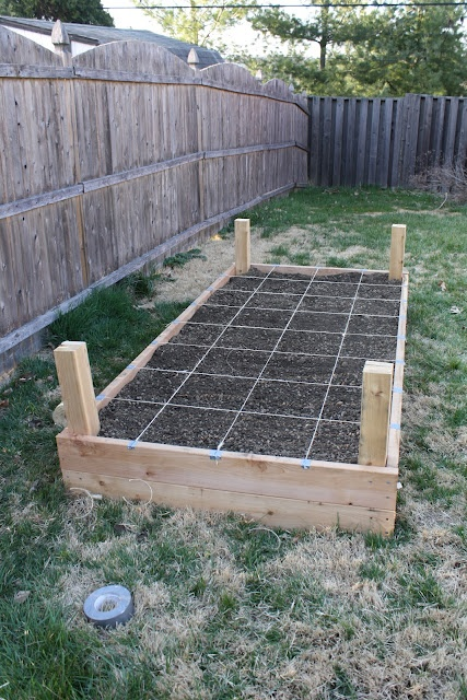 Our 8'x4' raised garden bed  Mckenna Wants to do this