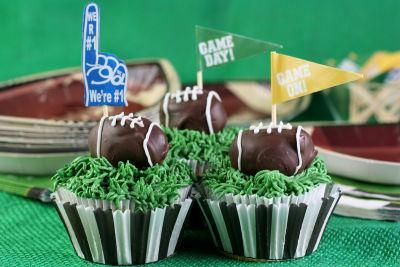 Football Tailgate Cupcakes | football fun stuff | Pinterest