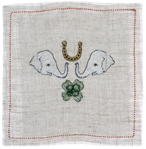 white elephant cocktail napkins