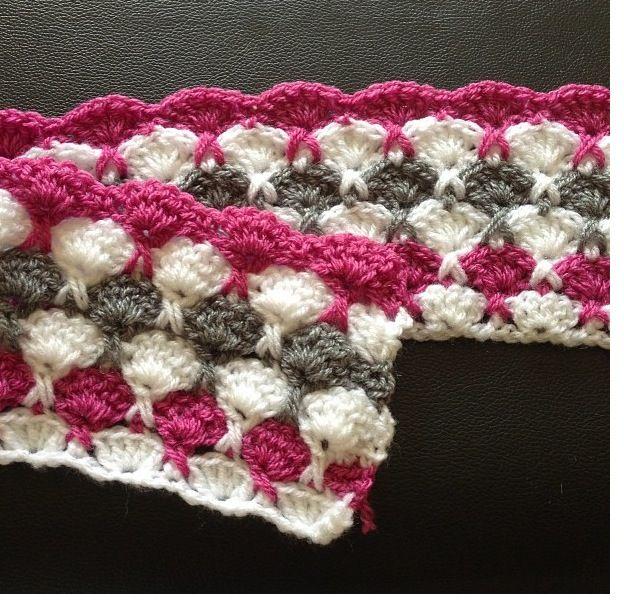 Crochet Kiss Stitch : New kiss crochet starter baby blanket Homemade Crochet projects P ...