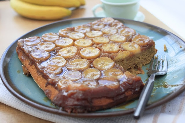 Nutmegs, seven: Banana caramel and coffee upside-down cake