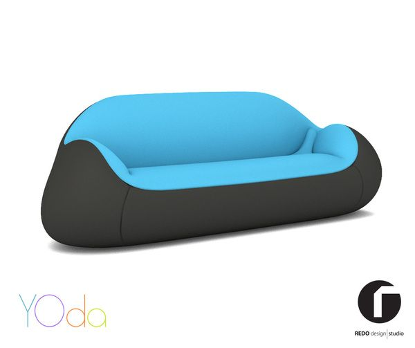 'Yoda', colorful design for a matching couch by Redo Design Studio