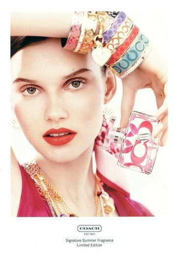 Coach- check out her bangles!LOVE