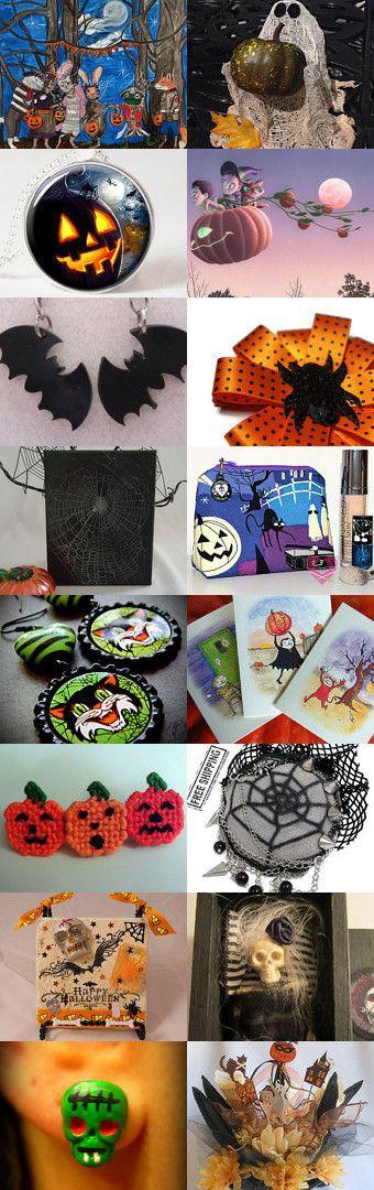 Happiness of Halloween HAB by TwilightFaerie on Etsy--Pinned with TreasuryPin.com #halloween #horror #creepy #spooky #Halloweenartistbazaar