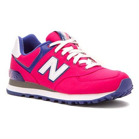 Womens New Balance Shoes WL574 Pink Rip-Stop Nylon