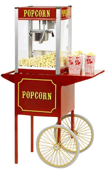 Popcorn maker rental and supplies, Olympia, Washington