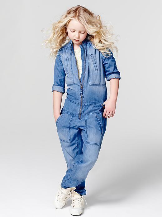Gap | Denim romper | Coolest kids Fashion | Pinterest