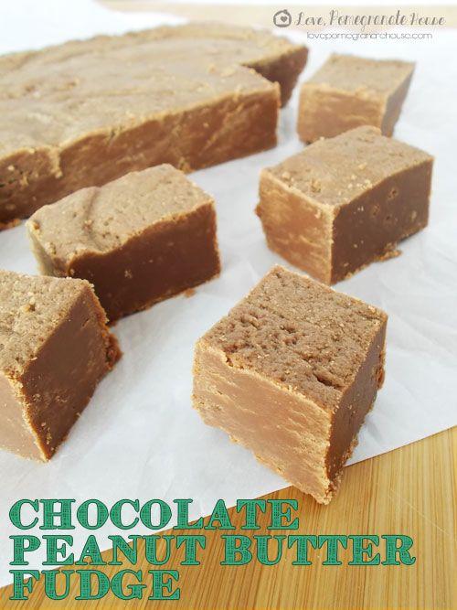 Chocolate Peanut Butter Fudge. Made with sugar, milk, butter, light ...
