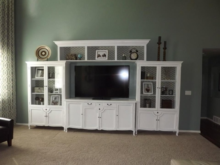 White Entertainment Center Living Room Pinterest