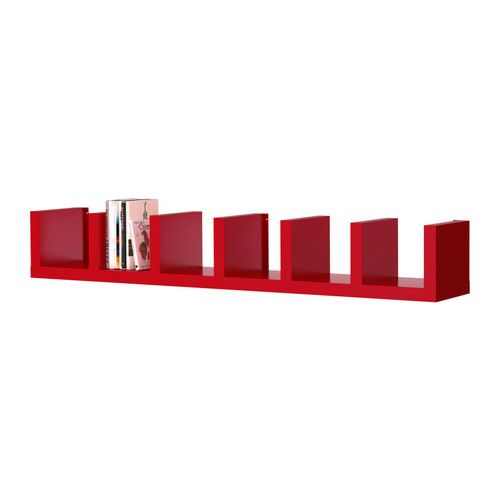 Lack wall shelf unit red for Etagere murale lack ikea