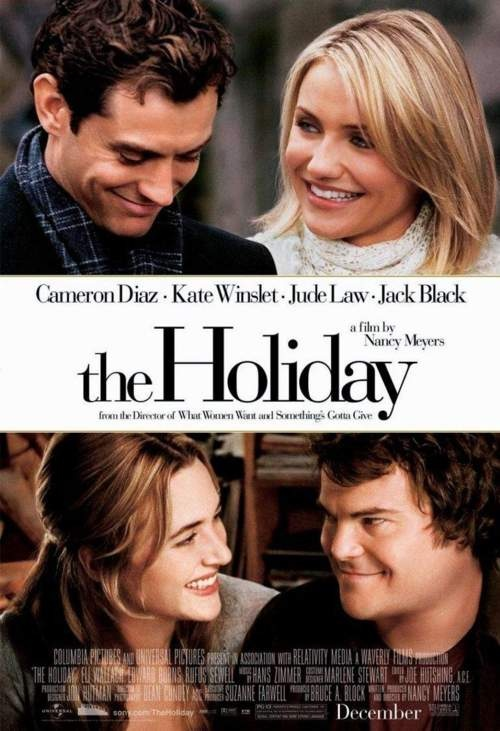 Cute Funny Jude Law Jack Black The Holiday kate winslet cameron diaz romantic movie