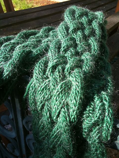 chunky braided scarf pattern Idle hands? Knit & Crochet Pinterest