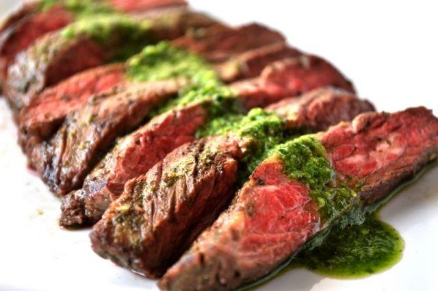 Skirt Steak With Chimichurri Sauce | Food | Pinterest