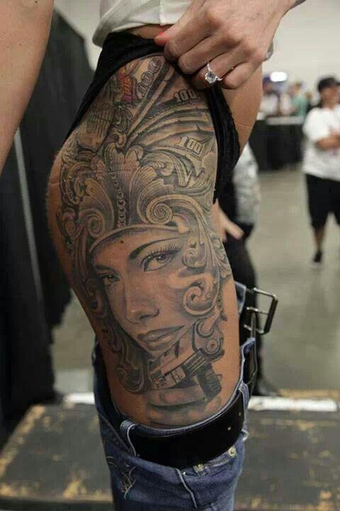 Hip/Thigh tattoo | tattoos I like | Pinterest