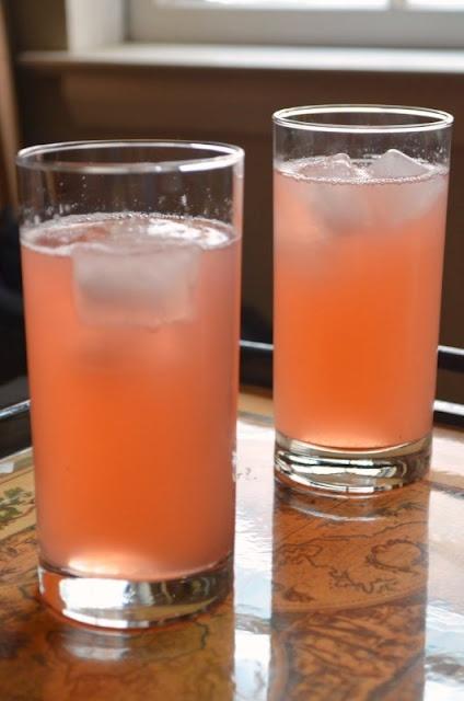 Rhubarb Iced Tea- 6 stalks of rhubarb sliced, 6 cups of water, bring ...
