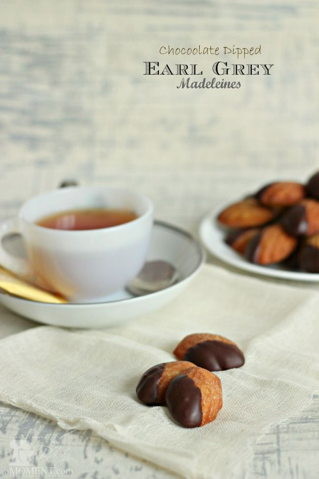 Chocolate Dipped Earl Grey Madeleines, like something Julia in The ...