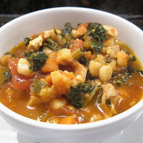 Hominy, Chicken and Kale Stew | Plant Based Whole Food | Pinterest