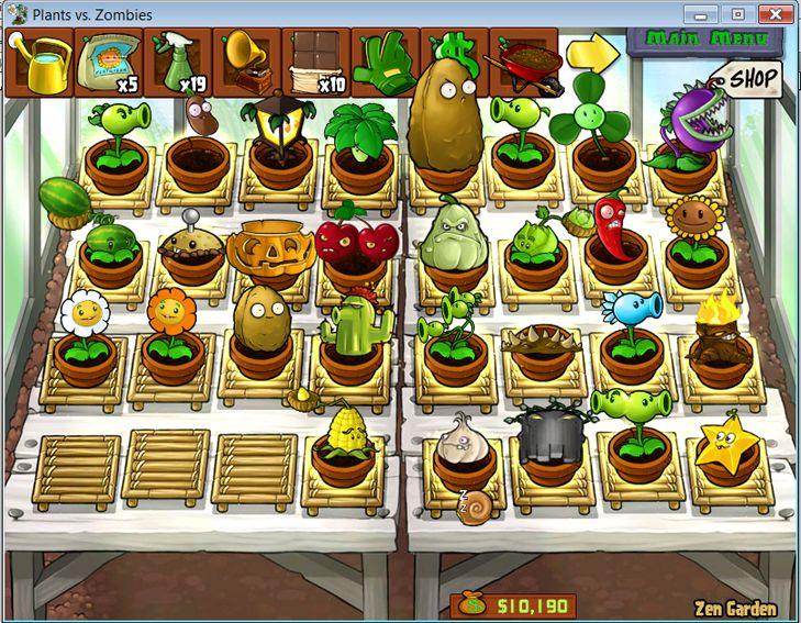 plants vs zombies zen garden