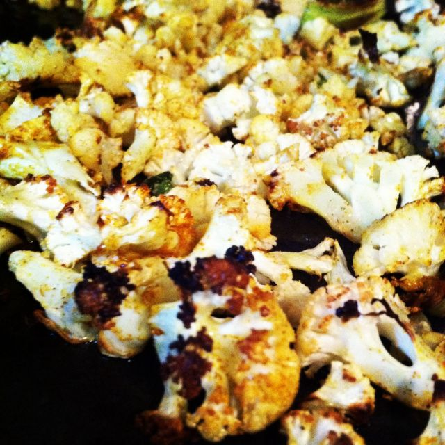 "Curry ""popcorn"" roasted cauliflower 