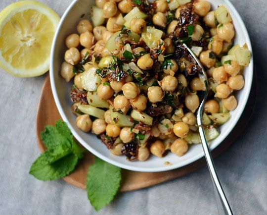 lunch recipe warm chickpea salad with cumin amp garlic