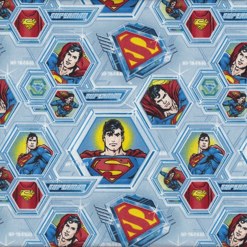 Superman boys kids licensed quilting craft fabric fat for Quilt material for boys