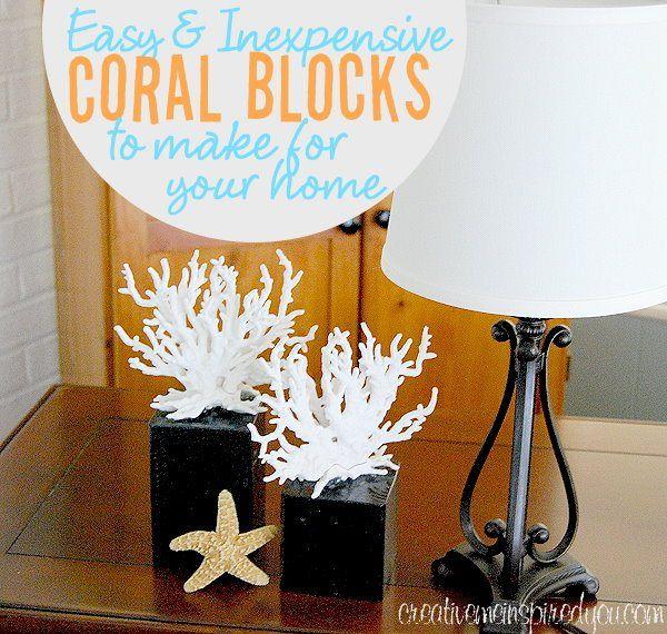 Coral Diy Handmade Homemade Faux Coral Beach Decor Home Decor
