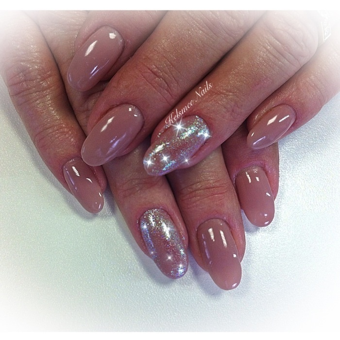 Beige Color Acrylic Nails ~ the best inspiration for design and ...