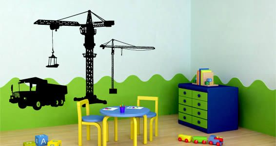 Construction site construction site wall decals for Construction site wall mural