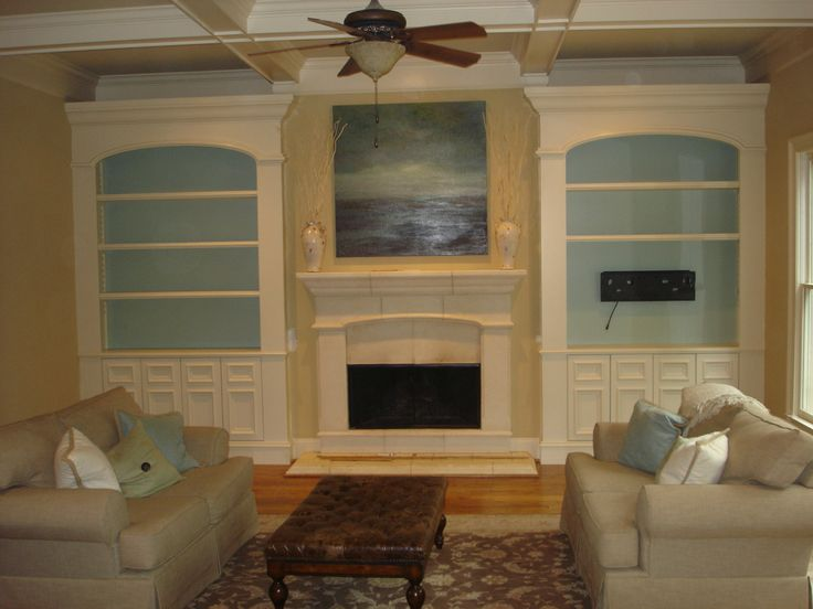 built in cabinets flanking a fireplace den pinterest