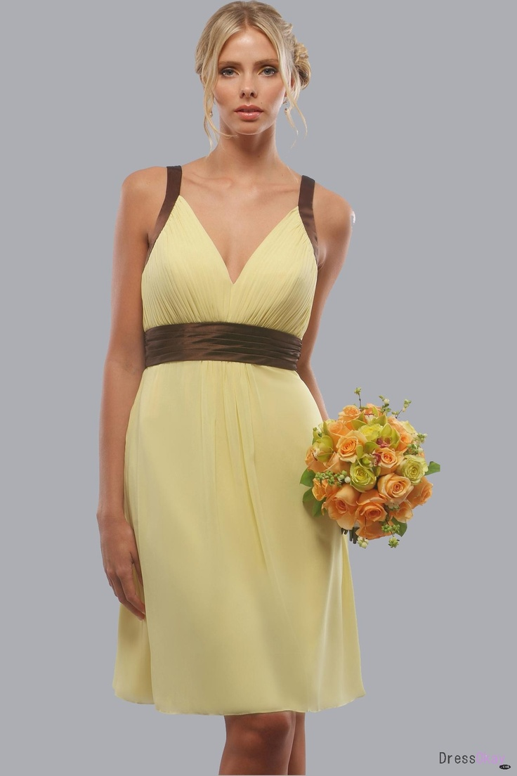 Yellow And Brown Bridesmaid Dresses 40