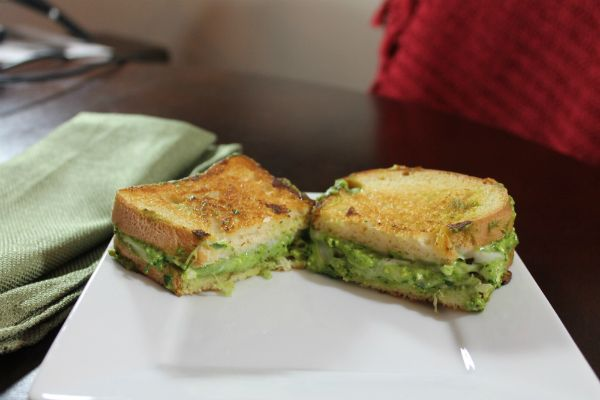 Gluten Free Spinach Pesto Grilled Cheese Sandwich