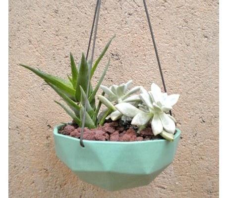 Des pots de fleurs suspendus  #jefaislejardinquimeplait  Pinterest