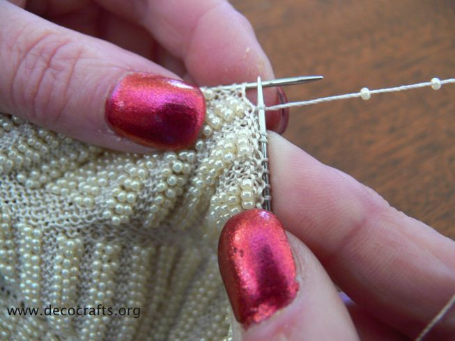 Knitting With Beads Instructions : Bead knitting tutorial tips tricks pinterest
