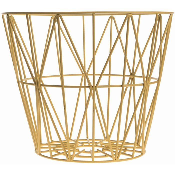 ferm living wire basket decorative accessories pinterest. Black Bedroom Furniture Sets. Home Design Ideas