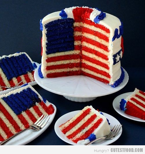 fourth of july cake pinterest