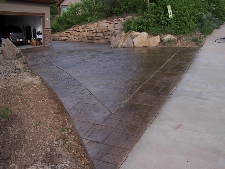 Brown Stamped Concrete Patio : Brown stamped concrete decks pinterest
