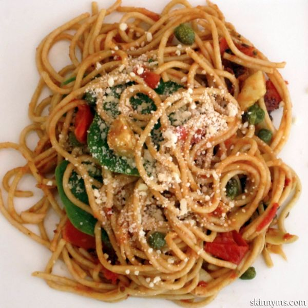 pasta puttanesca with baby spinach 8 ounces whole wheat angel hair ...