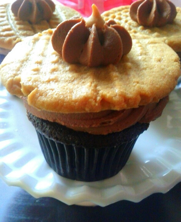 Peanut Butter Cookie Cupcakes Recipe — Dishmaps