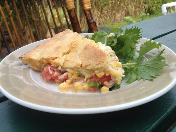 "Tomato and Corn Pie {meatless monday} | Meatless ""Monday's"" 