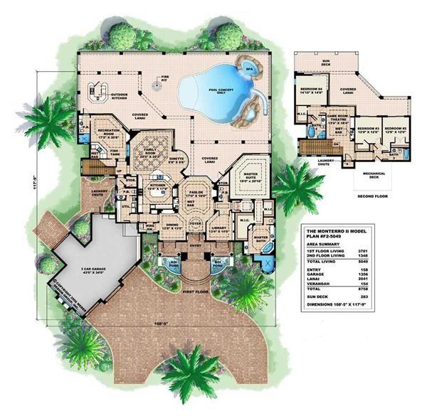 Floor Plans Mediterranean Monterro Ii House Ideas