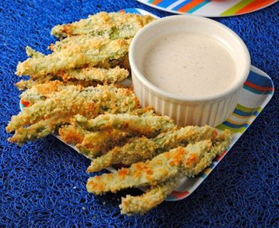 Poblano Fries and spicy ranch dip | Yummy stuff to eat. | Pinterest