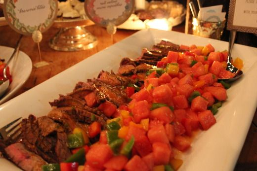 Grilled Flank Steak with Spicy Pepper and Watermelon Salad, paired ...