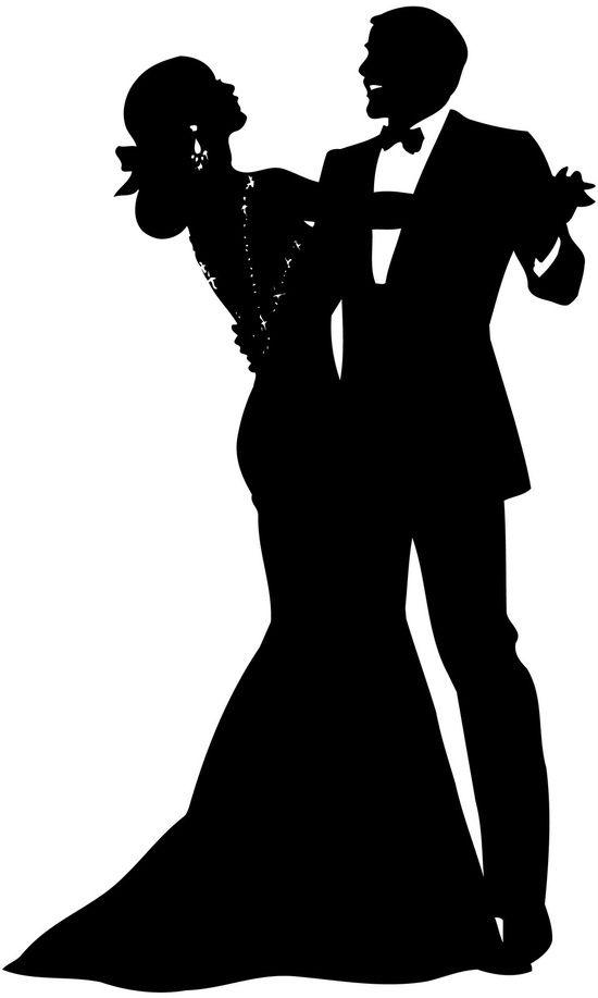 Wedding Man And Woman Silhouette Dancing 110