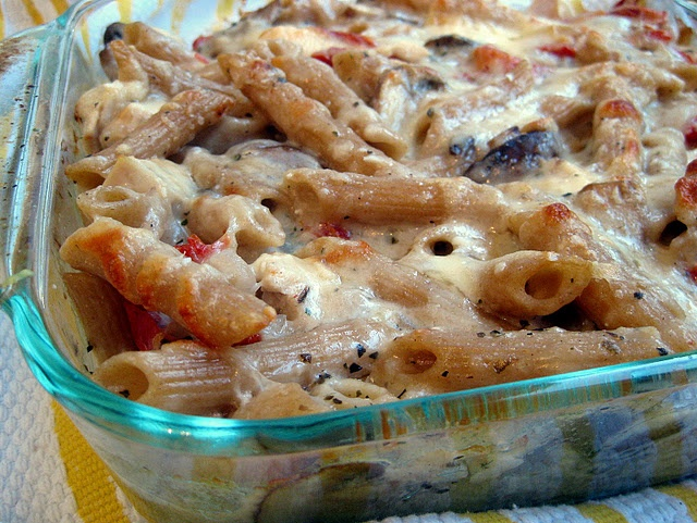 Baked Penne with Chicken, Mushrooms, and Sun-dried Tomatoes Are you ...