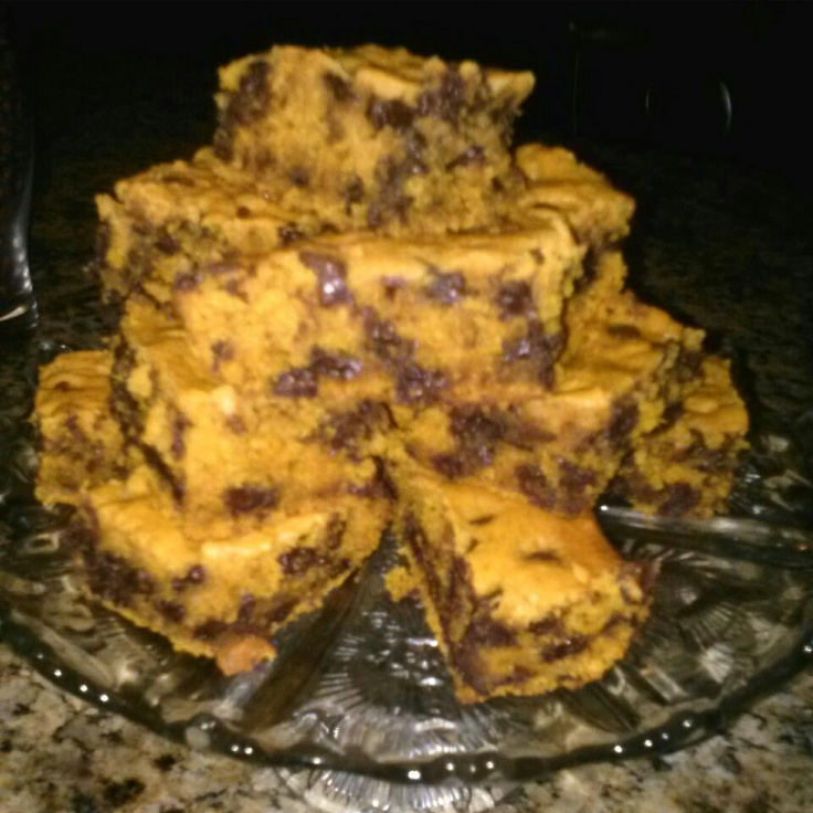 Pumpkin Chocolate chip bars...YUMMY!!!