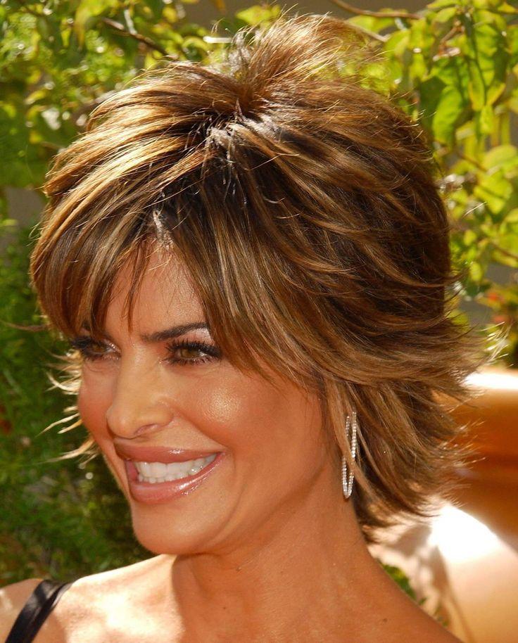 Lisa Rinna Razor Cut Shag | Short Hairstyle 2013
